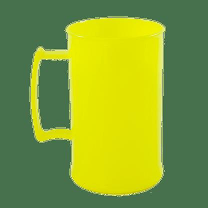 Caneca acrilica 300 ml amarelo neon