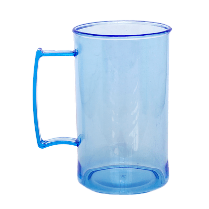 Caneca acrilica 300 ml azul neon