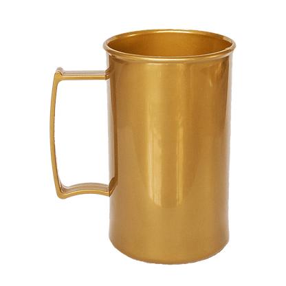 Caneca acrilica 300 ml dourada