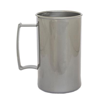 Caneca acrilica 300 ml vermelho prata