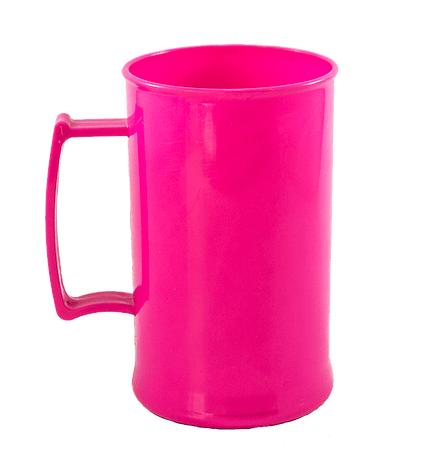 Caneca acrilica 300 ml rosa fechado