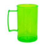 Caneca acrilica 300 ml verde neon