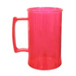Caneca acrilica 300 ml vermelho neon