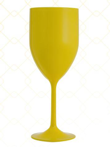 Taça Vinho 320 ml amarelo leitoso
