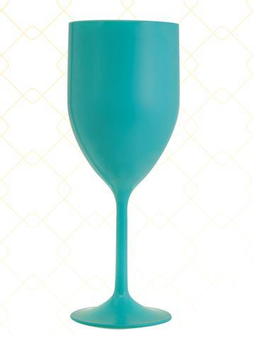 Taça Vinho 320 ml azul tiffany