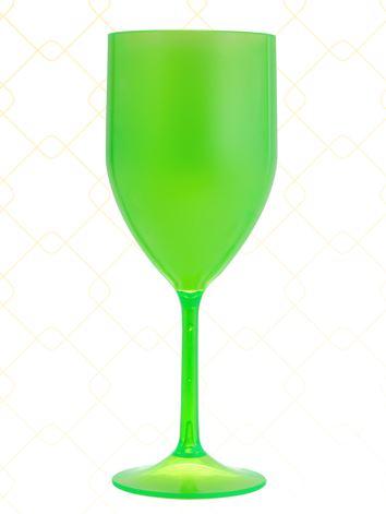 Taça Vinho 320 ml verde neon