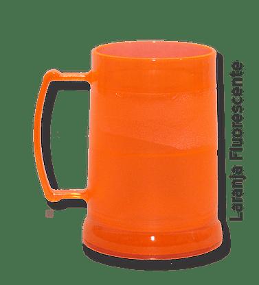 Caneca de Gel laranja fluorescente