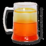 Caneca de Gel laranja transparente