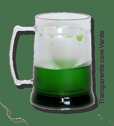 Caneca de Gel verde transparente